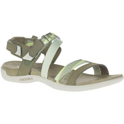 Women's Sandals Merrel l District Mendi Backstrap olive/lime, Merrel