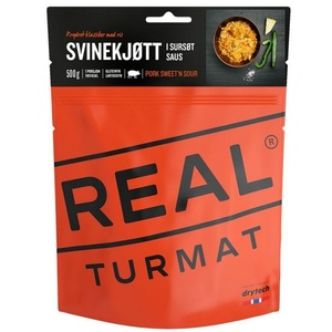 Real Turmat Pork with rice in sweet-sour sauce, 127 g, Real Turmat