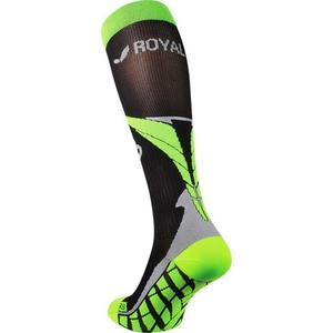 Compression knee socks ROYAL BAY® Air Black / Green 9688, ROYAL BAY®