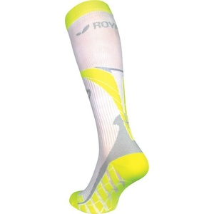Compression knee socks ROYAL BAY® Air White / Yellow 0188, ROYAL BAY®
