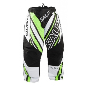 Goalkeepers pants Salming Phoenix Goalie Pant SR White / GeckoGreen, Salming
