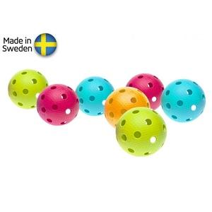 Set floorball balls Salming Aero Ball 10-pack, colour mix, Salming