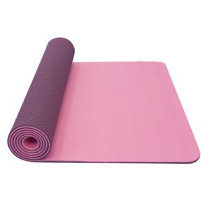 Mat to yoga YATE yoga mat double layer / pink / violet / material TPE, Yate
