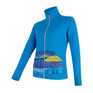 Women hoodie Sensor Tescnostretch Pattern full-zip blue 17200077, Sensor