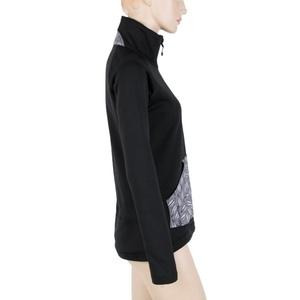 Women hoodie Sensor MERINO TECHNOSTRETCH PATTERN LEAVES black 18200060, Sensor