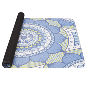 Mat to yoga YATE yoga mat natural rubber / pattern B / blue-green, Yate