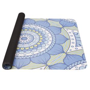 Mat to yoga YATE yoga mat natural rubber / pattern B / blue-green, Yate