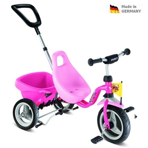 Children red three-wheeler Carry Touring Tipper CAT 1 S pink 2325, Puky