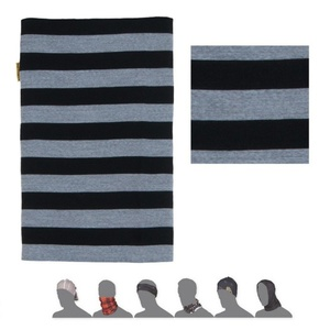 Scarf Sensor TUBE MERINO WOOL black stripes 16200182, Sensor