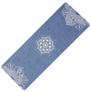 Mat to yoga YATE yoga natural rubber / pattern C / blue, Yate