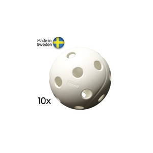 Set floorball balls Salming X3M Campus Ball, 10-pack, White, X3M