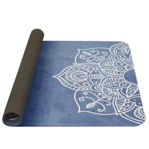 Mat to yoga YATE yoga mat natural rubber / pattern C / blue, Yate